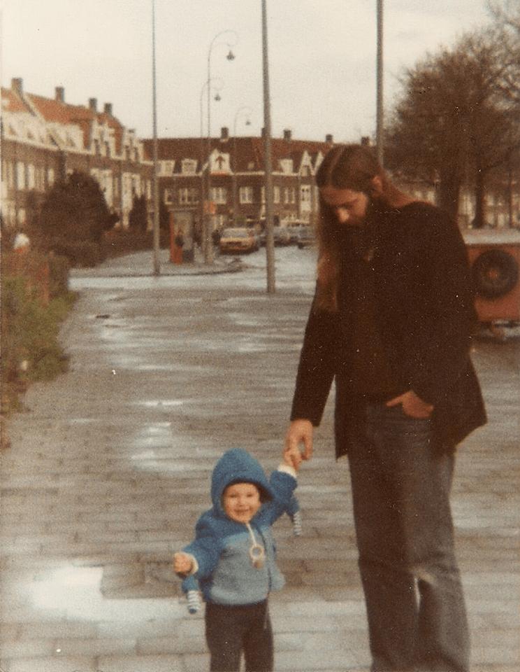 Met mijn vader in Amsterdam Noord in 1982